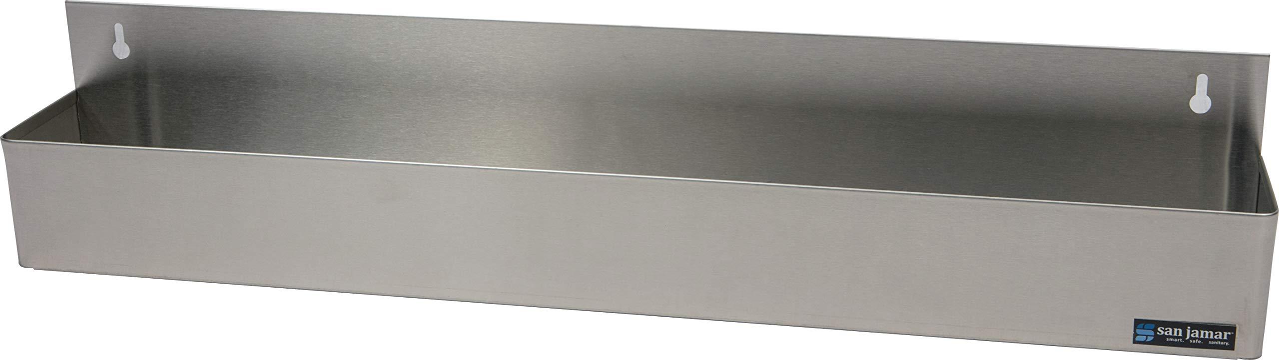 San Jamar B5532 Stainless Steel Single Rail Speed Rack Bottle Holder, 31-1/8'' Width x 6'' Height x 4-1/8'' Depth