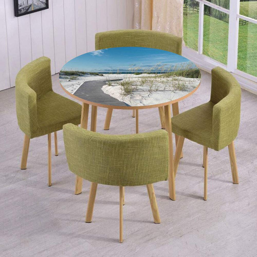 Round Table/Wall/Floor Decal Strikers/Removable/Rustic Beach Pathway Heads to The Water in Florida Santa Rosa Island Summer Travel/for Living Room/Kitchens/Office Decoration