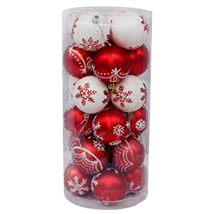 Immagini Di Natale Colorate.Toifucos 24 Pcs Colorato Verniciato Palla Di Natale Albero Di Natale Palla Di Ornamenti Per Natale Nozze Partito Decorazione 2 36 Pollici 60mm