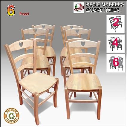 Sedia in legno, naturale, Stile Shabby Chic, Country, Mod