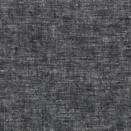 Robert Kaufman Kaufman Essex Yarn Dyed Linen Blend Black Fabric By The Yard, 113 Perfect Storm