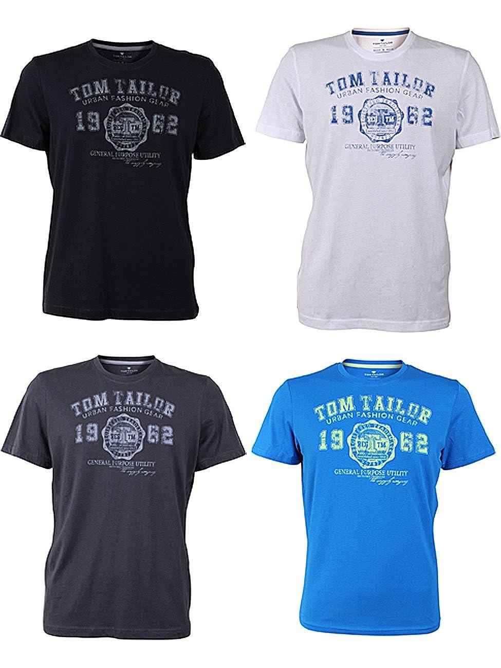 TOM TAILOR Herren Rundhals T-Shirt Logo Tee Basic - - - 4er Pack B0792R9SGF T-Shirts Wirtschaft acaba6