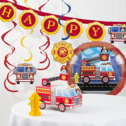(Fire Truck Decorations Kit)