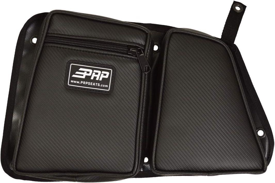 Blue for 2014-2018 Polaris RZR Rear Passenger Side Black PRP Seats Door Bag