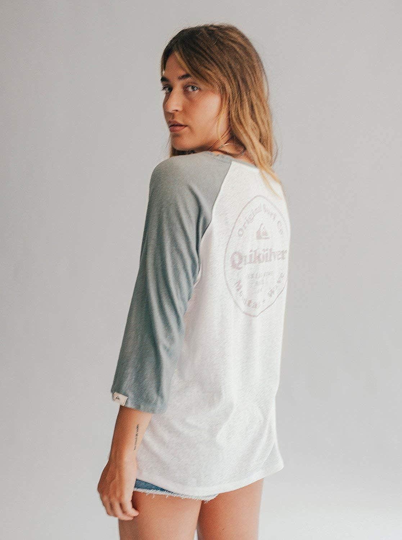 Amazon com: Quiksilver Womens Womens - 3/4 Sleeve T-Shirt 3