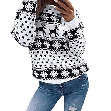 friendGG❤️❤️ Christmas Pullover Weihnachten Bluse Tops