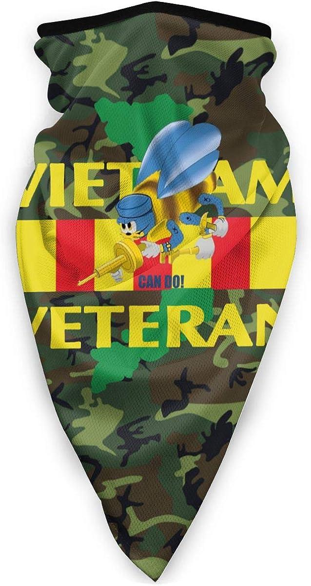 Navy Seabee Vietnam Veterans Outdoor Face Mouth Mask Windproof Sports Mask Ski Mask Shield Scarf Bandana Men Woman