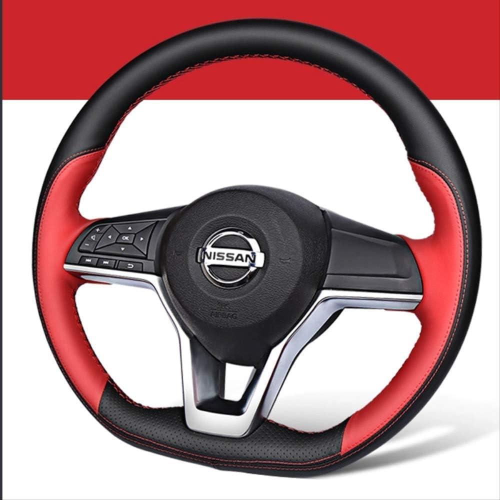 Juego de volante de coche con costuras a mano fuerte para pasajeros novedad junio de cuero especial
