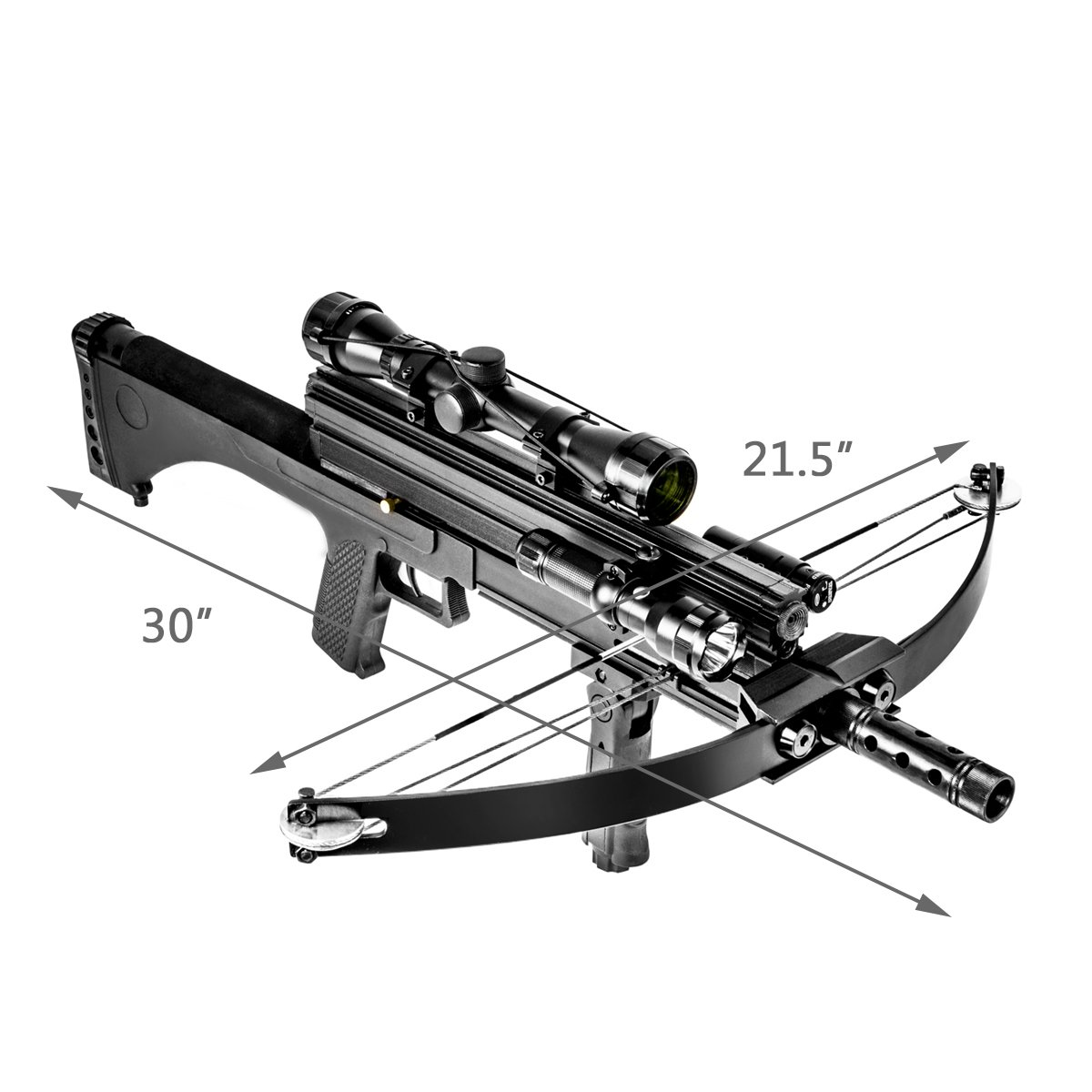 XtremepowerUS Multifunctional Crossbow 80 lbs 160 fps Hunting Equipment 200 Magazine Capacity by XtremepowerUS (Image #2)