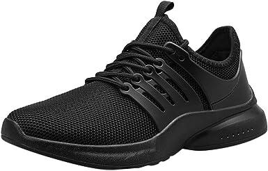 AopnHQ Zapatillas deportivas para hombre, anchas, cómodas, para correr, baloncesto, calzado de entrenamiento - Negro - 7.5: Amazon.es: Ropa y accesorios