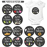 My First Holiday Baby Stickers Milestone Christmas,...