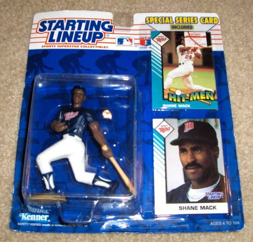 (1993 - Kenner / MLB - Starting Lineup - Shane Mack / Minnesota Twins Figure - Special Series Cards Included - Out of Production - Limited Edition - Collectible)