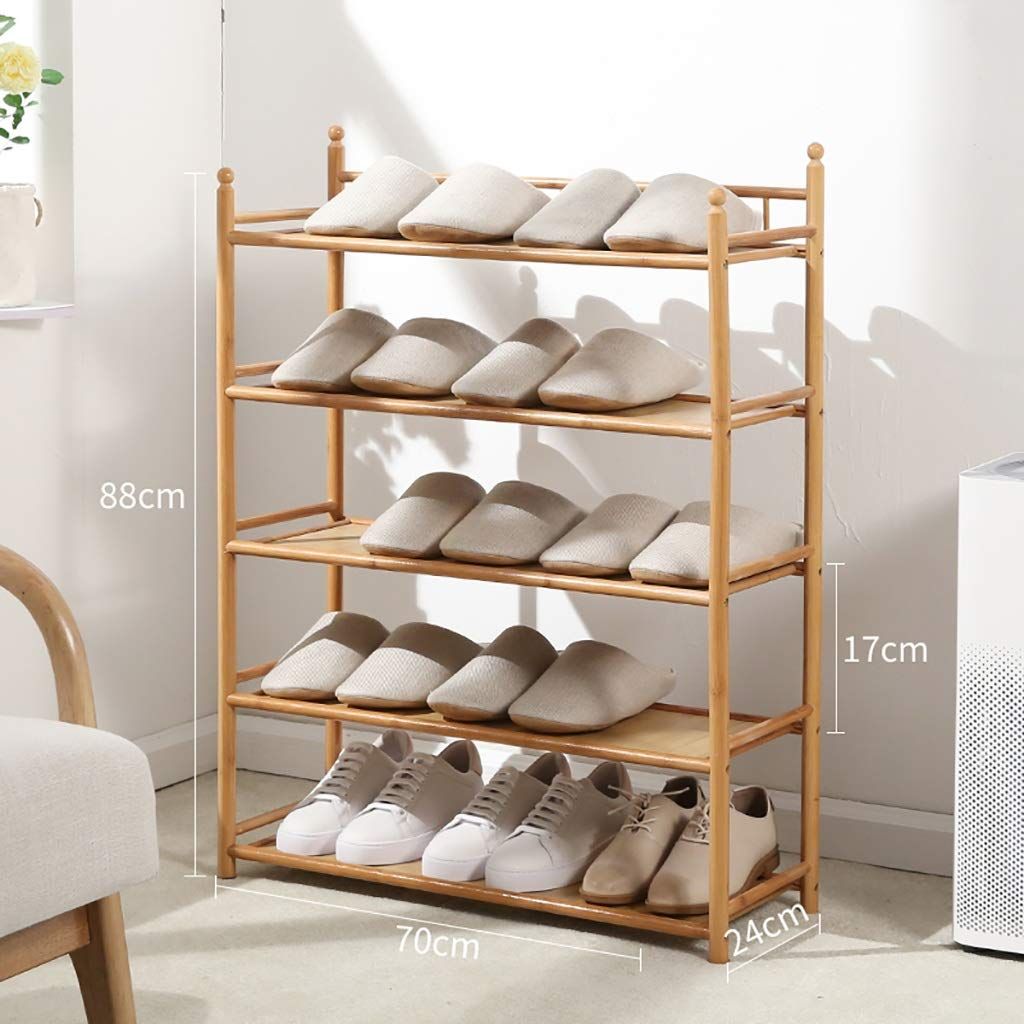 702488CM 4 5-layer shoes Rack Shelf Flower Stand Bookshelf Storage Shelf shoes Cabinet Multifunction Household Doorway Entrance Space Saving (Size   50  24  88CM)
