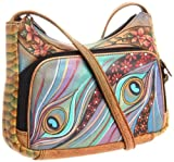 Anuschka 481 DNP Cross Body,Dancing Peacock,One Size, Bags Central
