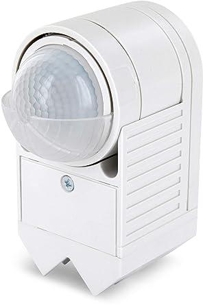 Aufputz esquina infrarrojos Detector de movimiento IP44 360 ° 230 V - con sensor de oscuridad