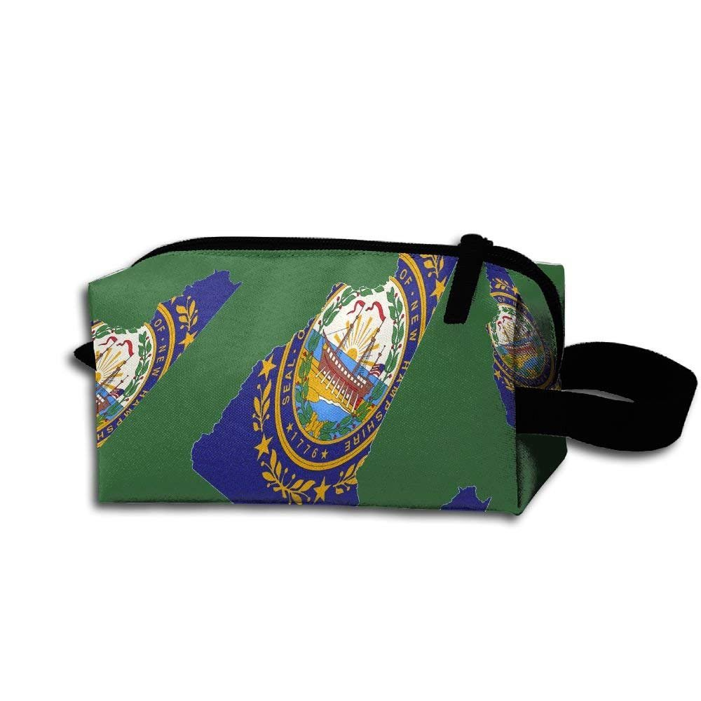 New Hampshire Tie Dye Unisex Portable Cosmetic Bag Pouch Bag For Sport Outdoor