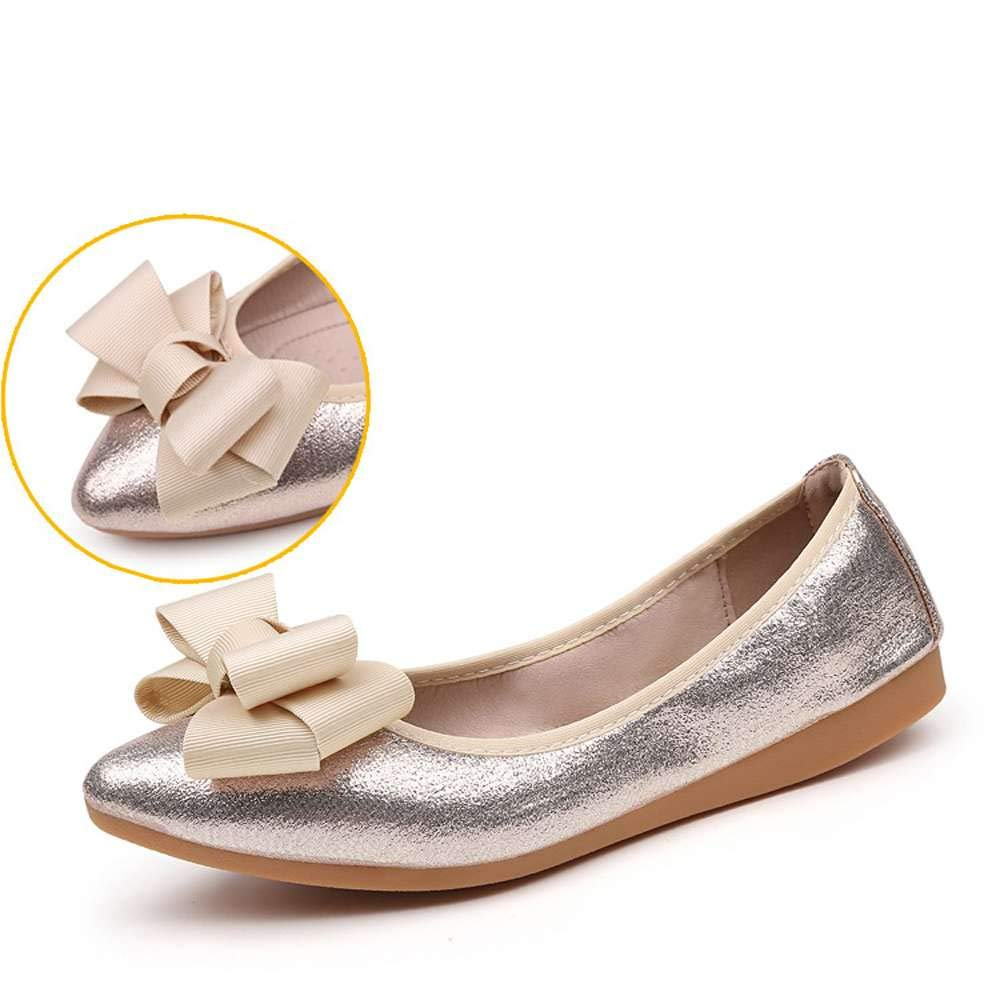 Amazon.com: Bow Ballet Flats Women Soft Loafer Foldable Pointed Toe Driving Mocasin Shoes: Clothing