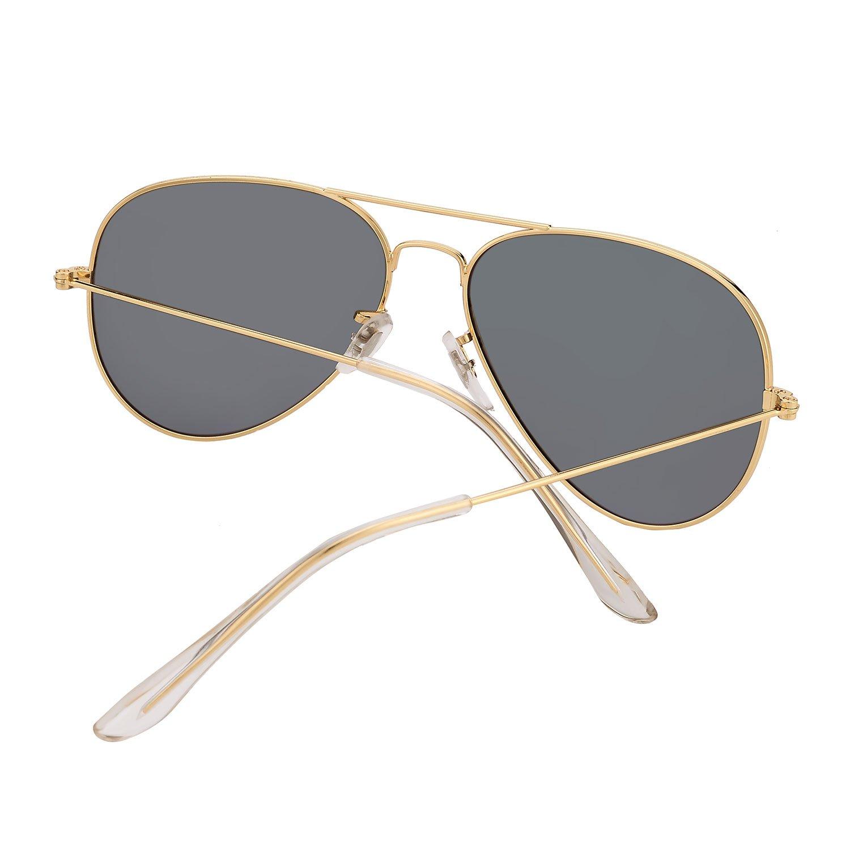 3d2c7d236be7 Amazon.com  LOMEDO Premium Polarized Aviator Sunglasses for Women Green  Mirrored W Flash UV400  Clothing