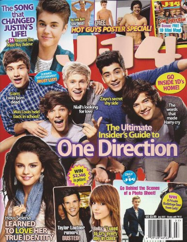 Shirtless Guy - One Direction (1D), Selena Gomez, Justin Bieber, Big Time Rush, SHIRTLESS HOT GUYS POSTER SPECIAL! - July, 2012 J-14 Magazine