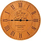 made in usa wood clock - Wedding Clock or Anniversary Clock, Personalized wedding gift, anniversary gift, housewarming gift