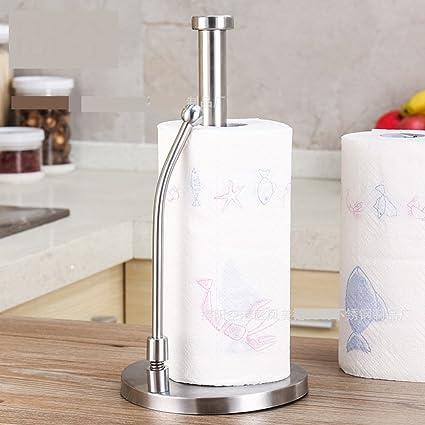 Questo articolo Yurgrt Portarotolo da cucina,Portarotolo da cucina Portarotolo da cucina in piedi,diametro 28 cm,base stabile,acciaio inossidabile//metallo