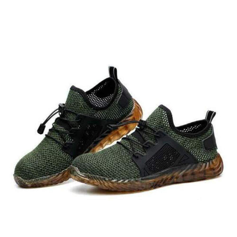 37 Gris Transpirable a Prueba de Pinchazos Mano de Obra Chic Insurance Zapatillas para Hombre en Verano HoaJeo Zapatos de Trabajo