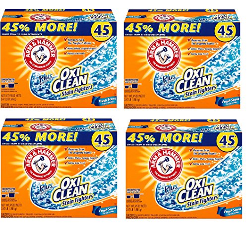 Arm & Hammer Laundry Detergent Plus OxiClean, Fresh Scent, 3.47 Lbs BdpaSJ, 4Pack by Arm & Hammer