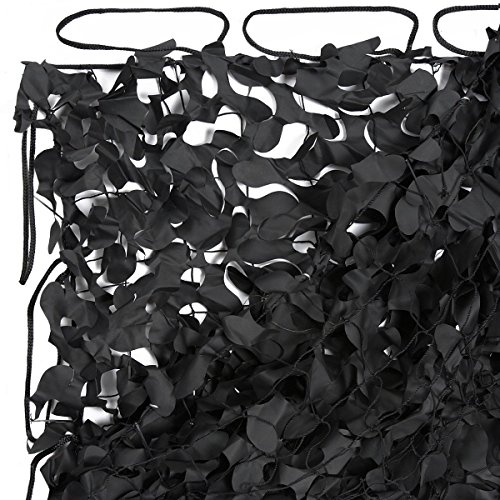 200 Sq Ft Coverage - Black Camo Net, Black Camo Netting, Special Forces Reinforced Net, 20ft x 10ft, 200 sq.ft