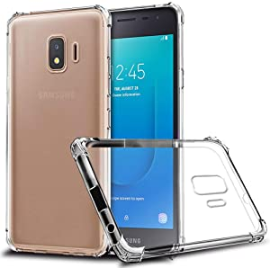 """GETE Samsung Galaxy J2 Core Case, J2 Dash,J2 Shine,J2 2019,J2 Pure,J260 Case, Lightweight Soft Clear Slim Crystal Full Body Protection Phone Cases Cover for Samsung Galaxy J2 Core 5"""" (Clear)"""