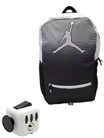 8bdff812f Amazon.com | Nike Air Jordan Jumpman Youth 23 Backpack Book Bag + FREE  FIDGET CUBE (Black & White) (Black & White) | Kids' Backpacks
