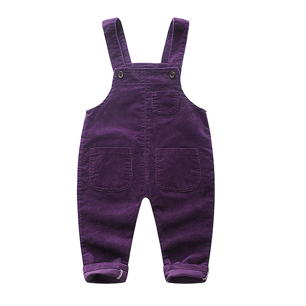 JiAmy Baby Dungarees Bib Pants Boys Girls Jumpsuit Toddler Corduroy Strap Rompers Outfits Spring Autumn Clothes