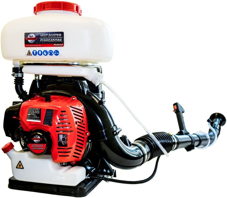 Tomahawk 3 HP Turbo Boosted Backpack Fogger Leaf Blower ULV Sprayer Fogger Machine Disinfectant and Mosquito Protection