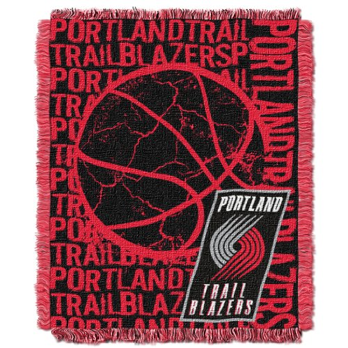 (The Northwest Company Officially Licensed NBA Portland Trail Blazers Double Play Jacquard Throw Blanket, 48