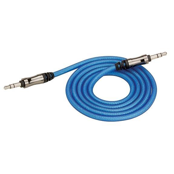 Amazon.com: SCOSCHE EFXAUXR3 3\' Reference Series AUX 3.5mm Cable ...