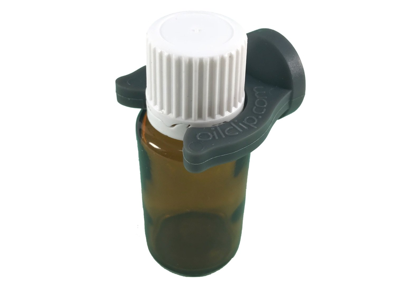 オイルクリップ磁気エッセンシャルオイルボトルホルダー、Holds 5 ml-15mlボトル、12パック(4、グリーン4、パープル4グレー)。 B071FKYTCY