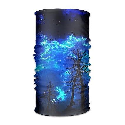 25887fe6756 Ewfweef Blue Starry Night Headwear Wide Headbands Elastic Scarf Head Wrap  Mask Neck Warmer For Men