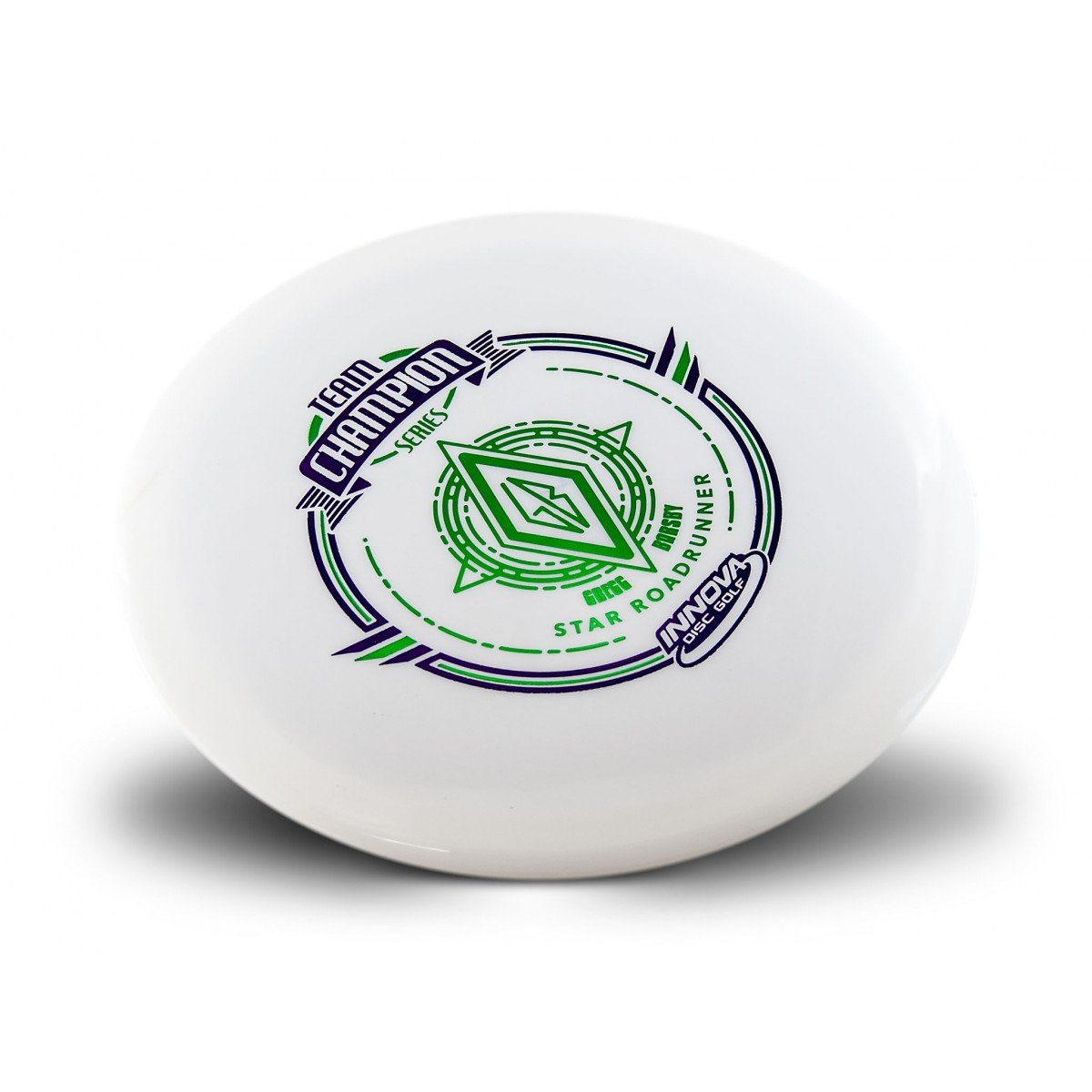 Innova Limited Edition Team Champion Tour Series Gregg Barsby Star Roadrunner Disc Golf Distance Driver (Stamp colors may vary) (White)