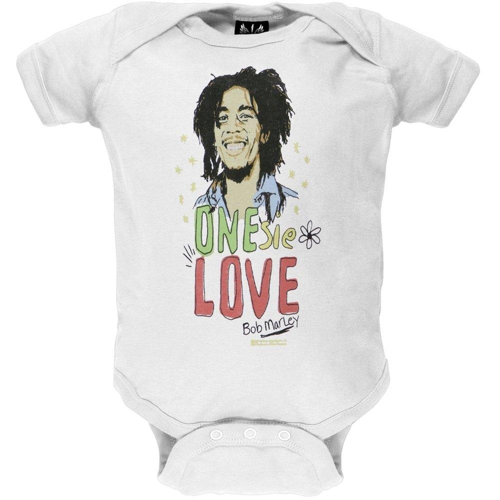 Bob Marley - Baby Boys One Love Infant Bodysuit - 6 White