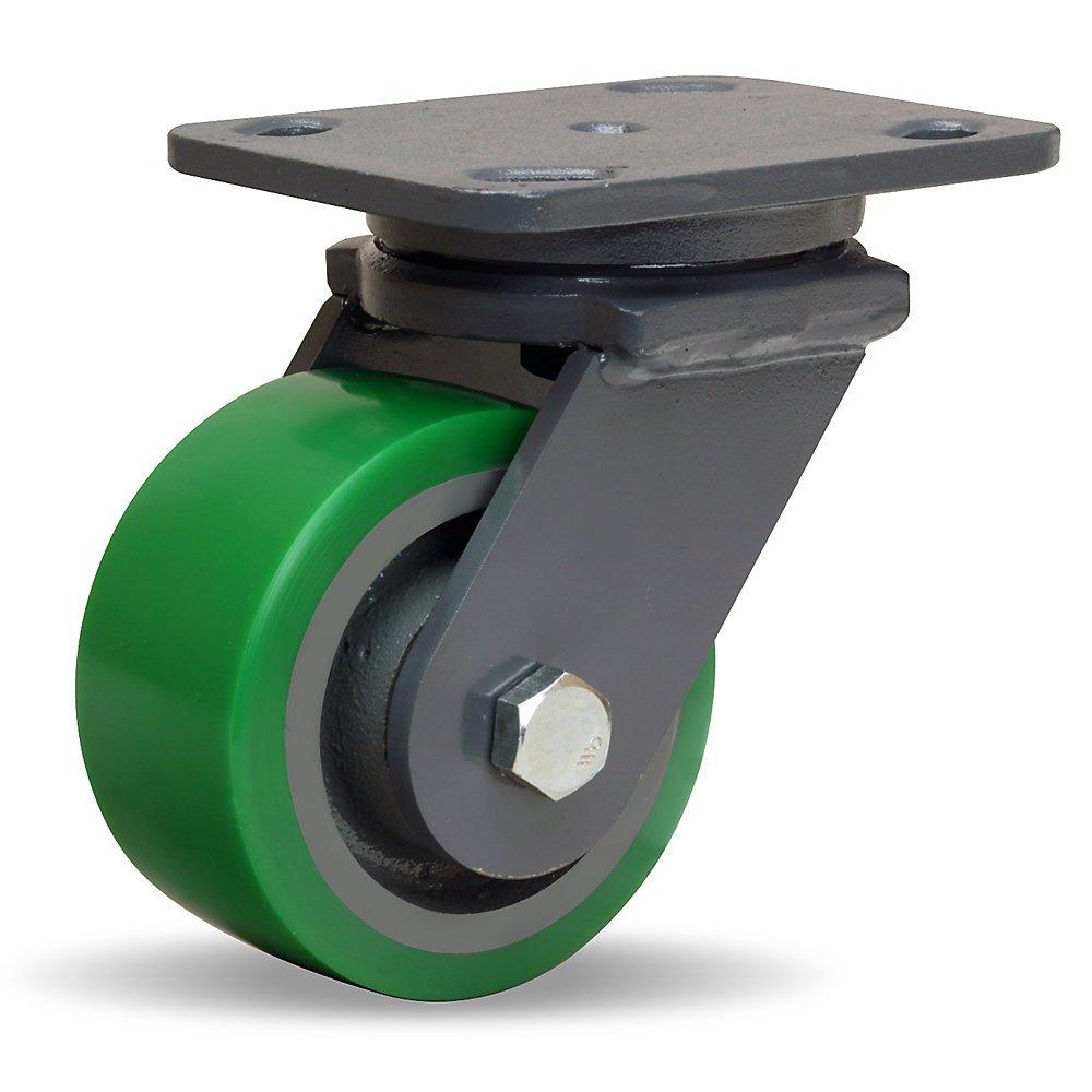 Hamilton Workhorse Caster - 4''Dia.X2''W Duralast Polyurethane Wheel - 750-Lb. Capacity - Swivel - Green