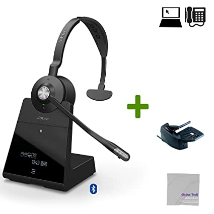 61ea627d0f5 Amazon.com : Jabra Engage 75 Wireless Headset Bundle #9556-583-125-B ...