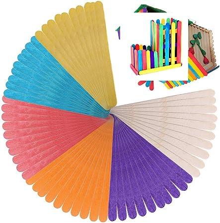 Rmeet Palillo de Madera,50 Pack Palos de Polo Colores + 50 Pack ...