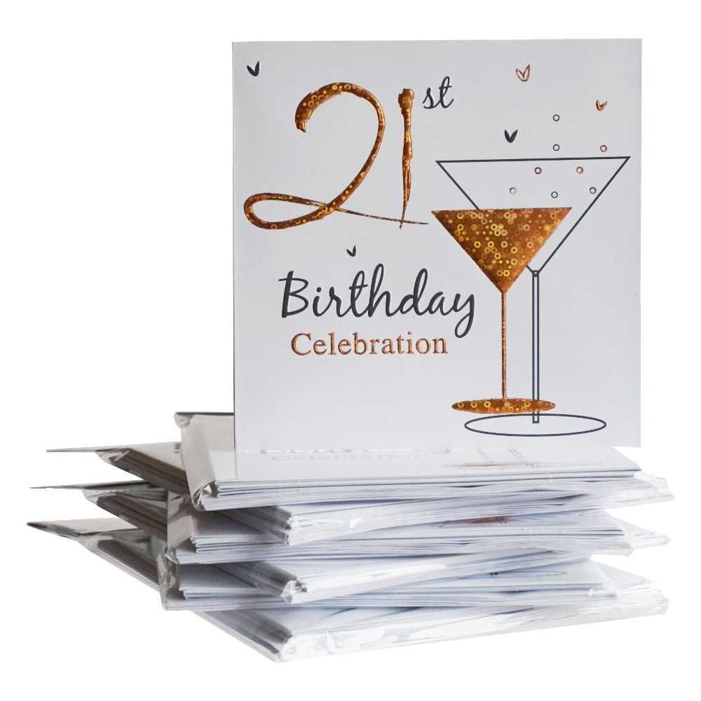 Pack of 10 - 21st Birthday Party Invitations: Amazon.co.uk: Kitchen ...