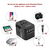 Universal Travel Adapter,4 USB Ports and 1 Type C