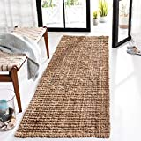 Safavieh Natural Fiber Collection NF447A Hand-woven Chunky Textured Jute Runner, 2' 6' x 10'