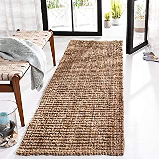 "Safavieh Natural Fiber Collection NF447A Hand Woven Natural Jute Runner (2'6"" x 14') (B0077181OW) 