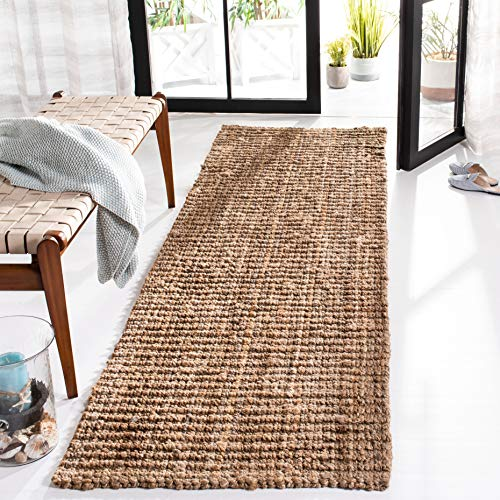 Safavieh Natural Fiber Collection NF447A Hand Woven Natural Jute Runner (2' x 6') (Ideas Furniture Front Small Porch)