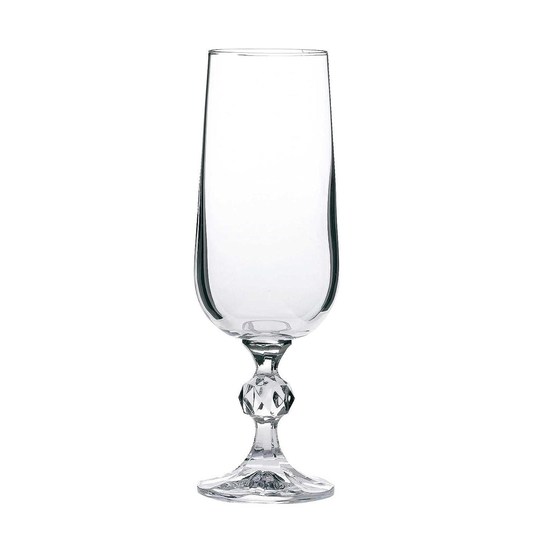 Bohemia Klaudie Champagne Glasses Claudia Crystal Champagne Flutes 6.25oz 180ml Set of 6