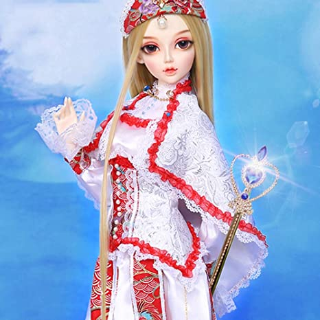ZMH BJD Doll 19 Ball Joints SD muñecas con Traje Vestido Elegante ...