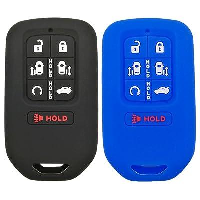 2Pcs Coolbestda 7buttons Key fob Cover Remote Control Keyless Jacket Holder Bag Case for 2020 2020 2020 Honda Odyssey elite ex: Automotive