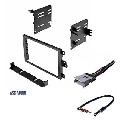 ASC Double Din Car Radio Dash kit, Wire Harness, and Antenna Adapter on